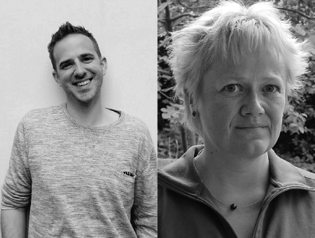 Der Lehrer Jonas Abplanalp und die Lehrerin und Präsidentin VPOD Lehrberufe Katrin Meier kämpfen für mehr Ressourcen für unbegleitete minderjährige Asylsuchende. zvg