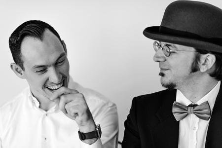 Ein Portrait von Islam Alijaj und David Siems